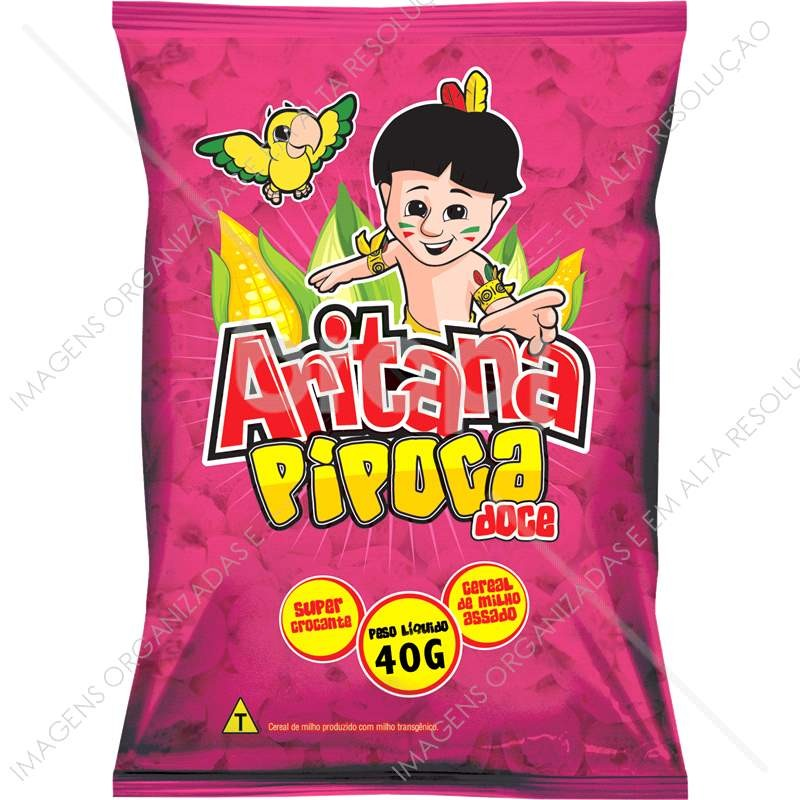 Pipoca Doce Aritana Pacote 40 g