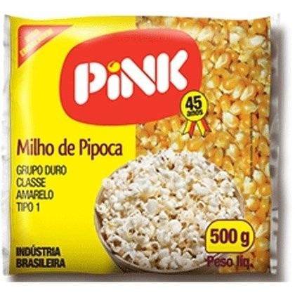 Milho para Pipoca Pink 500g