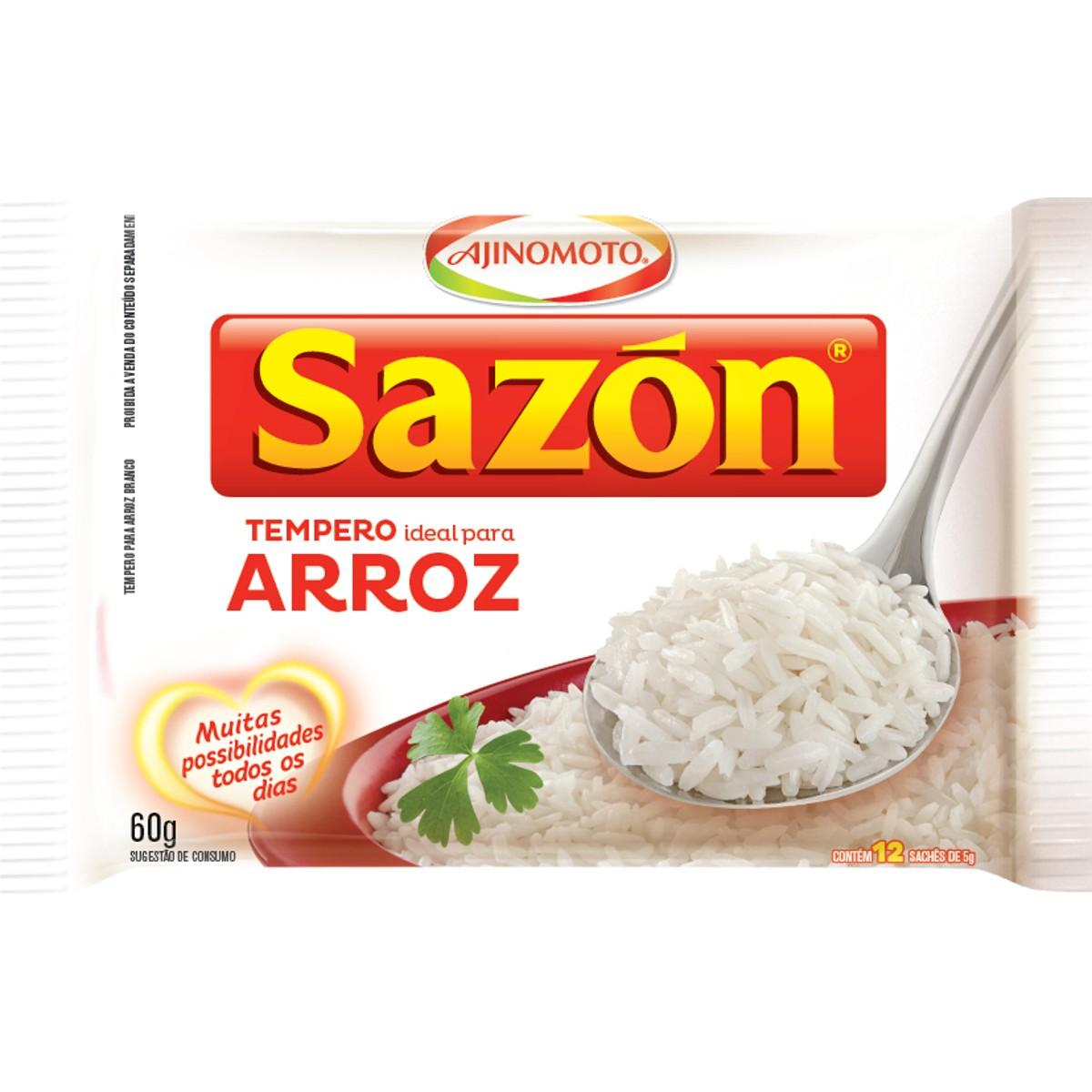 Tempero para Arroz Branco SAZON 60g