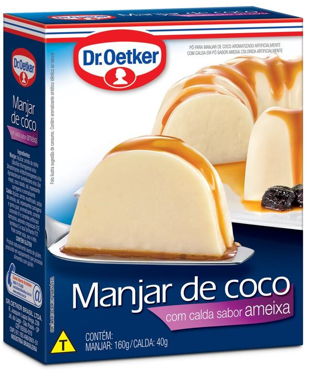 Manjar de Coco com Calda Sabor Ameixa