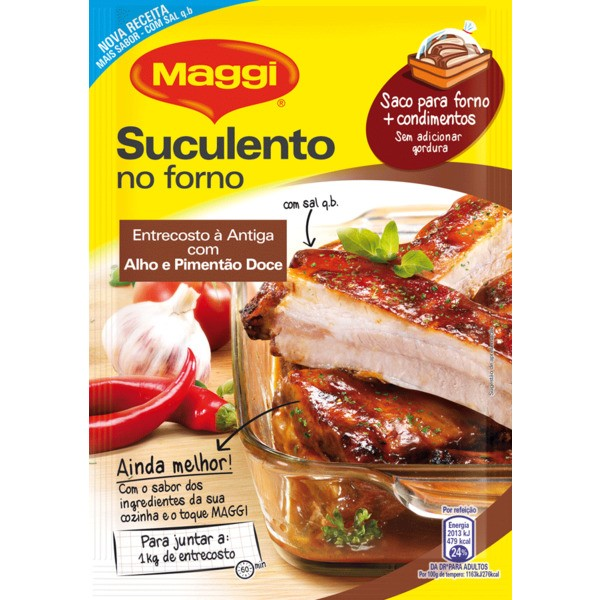 Maggi Suculento no Forno Entrecosto com Alho e Pimentão Doce embalagem 30 g