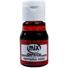 Corante Líquido 10ml - Mix - Vermelho Natal