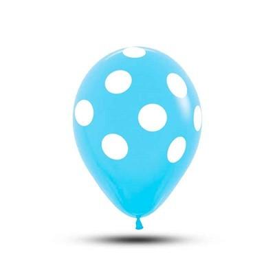Balão Poa Azul Claro n10 c/25und