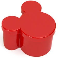 Caixinha Acrílica Mickey/Minnie Vermelha - 10 unidades