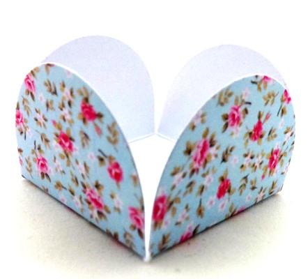 Forminha para Doces 4 Pétalas  Floral Azul - pacote com 50