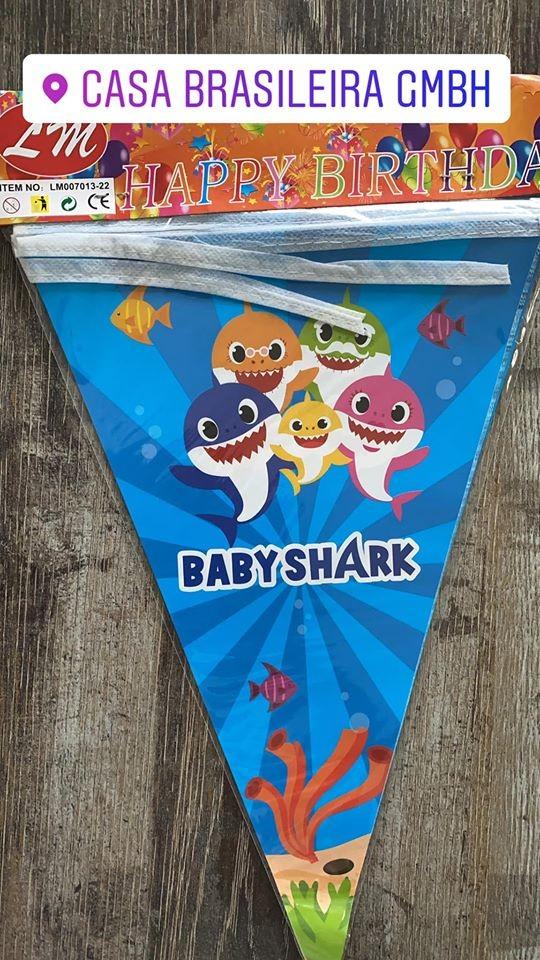 KIT ANINERSSARIO PARA 10 PESSOAS BABY SHARK