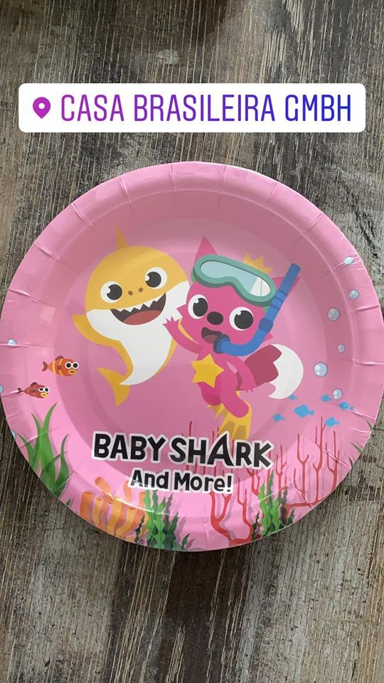 KIT ANINERSSARIO BABY SHARK ROSA 136 PECAS