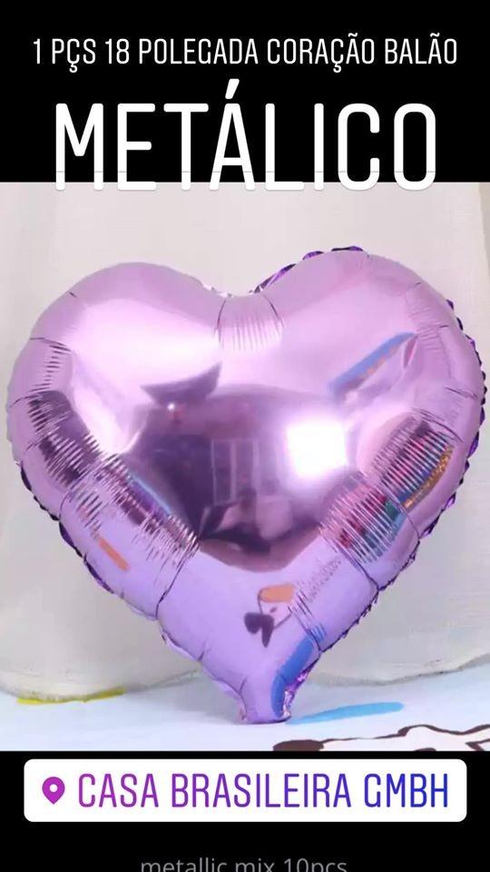 1peça 18 polegada balao de corarao violeta claro