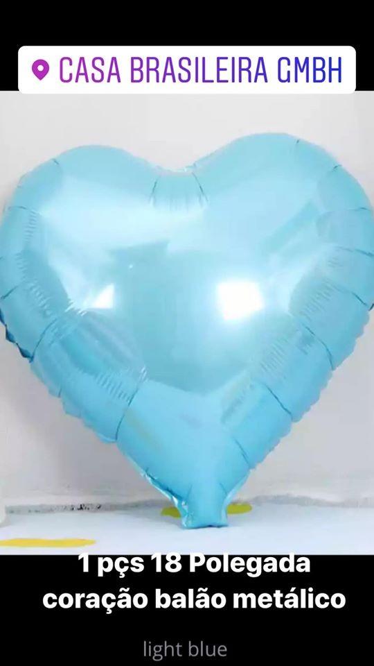 1peça 18 polegada balao de corarao azul claro