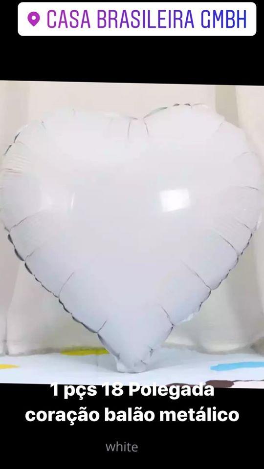 1peça 18 polegada balao de corarao branco