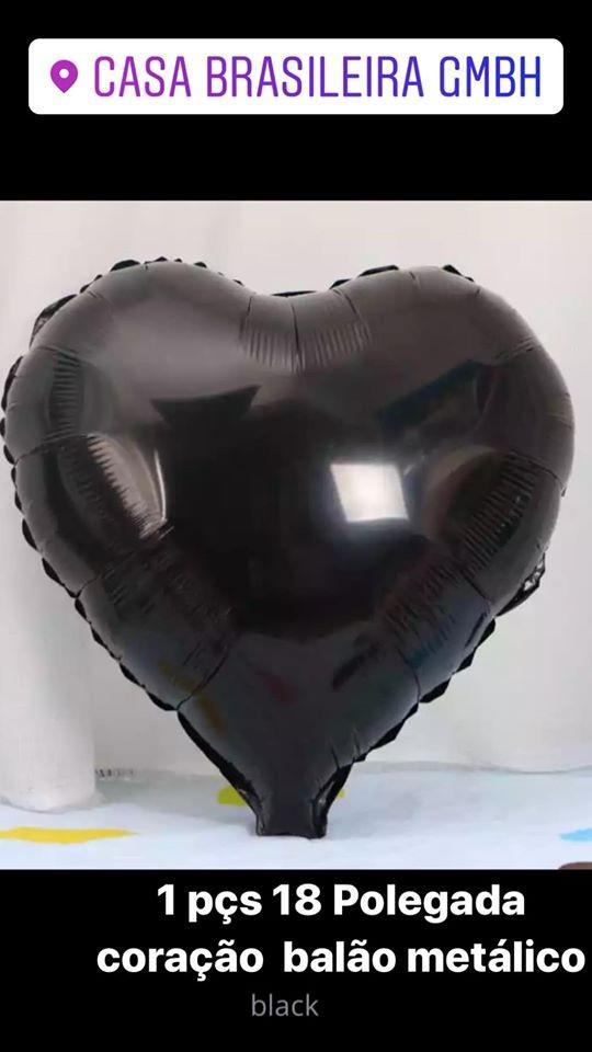 1peça 18 polegada balao de corarao preto