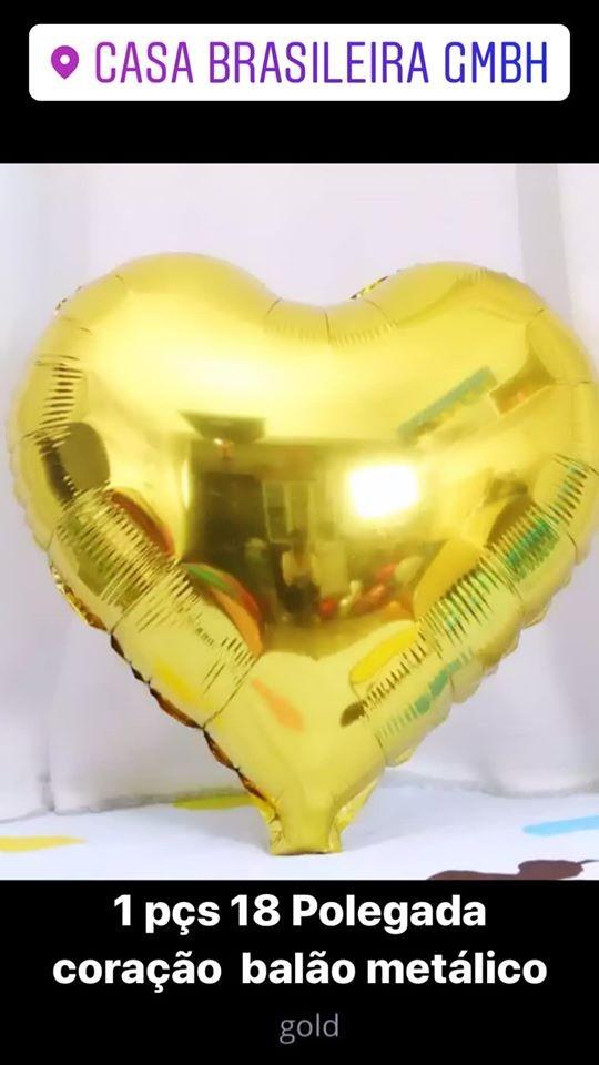 1peça 18 polegada balao de corarao dourado