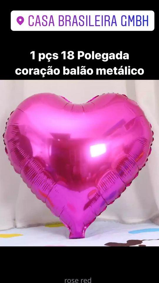 1peça 18 polegada balao de corarao pink