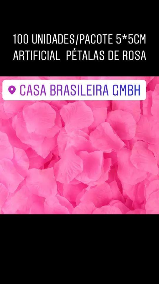 100 pétalas de rosas artificiais rosa
