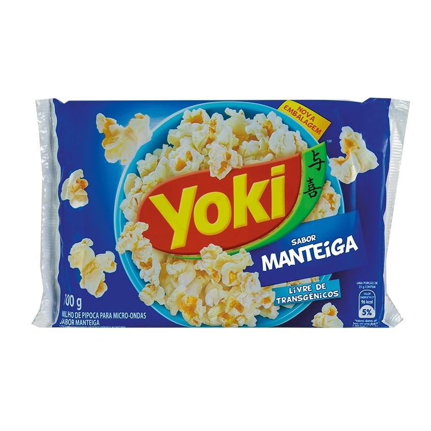 Pipoca para Micro-Ondas YOKI Sabor Manteiga 100g