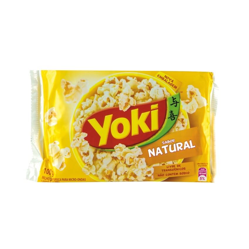 Pipoca para Micro-Ondas YOKI Natural sem Sal 100g
