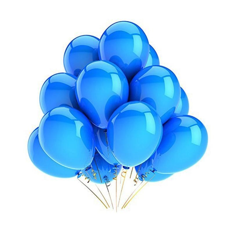 10 Pcs 12 Polegada Balões de Látex   (Azul Marinho)