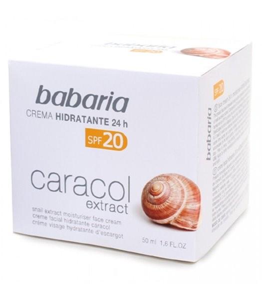 Creme Facial Hidratante 24h Extrato Caracol 50ml Babaria