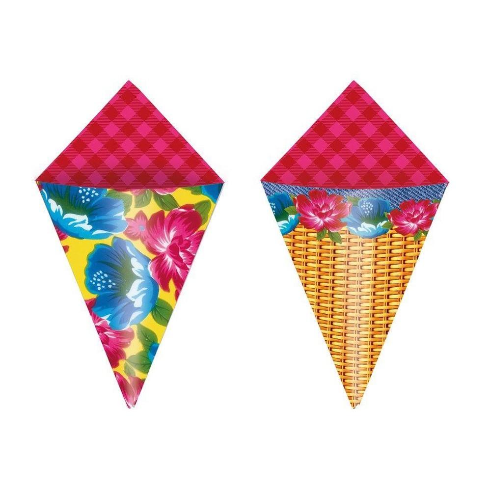Cone decorativo para festa Composê Cromus 24UN
