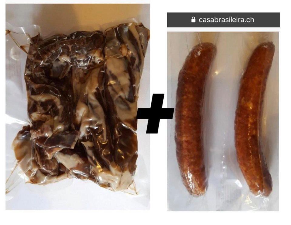 Carne de charque 500g + 2 Llinguica Calabresa 15fr A post