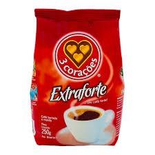 Café 3 Corações Extra Forte com 250g