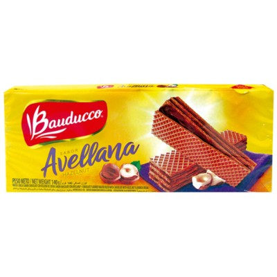 BAUDUCCO WAFER CHOCOLATE C/AVELLANA 140G