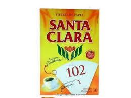Filtro de Papel Nº 102 SANTA CLARA com 30 Unids.