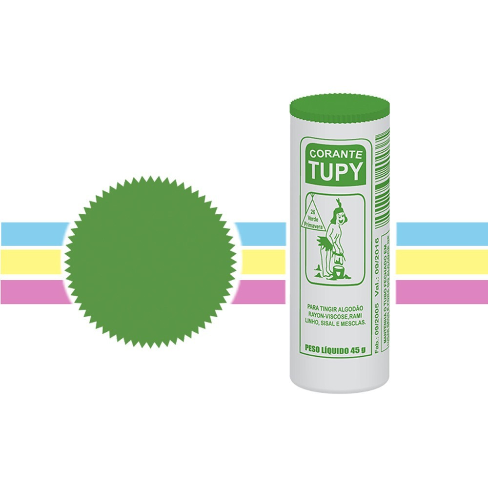 Corante para tupy verde primavera