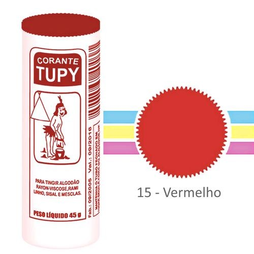 Corante Para Roupas Tupy Vermelho