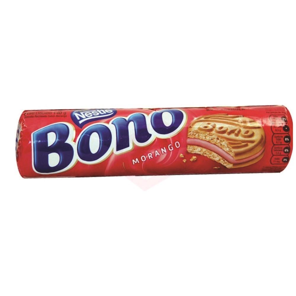 Biscoito Bono recheado Morango 140g