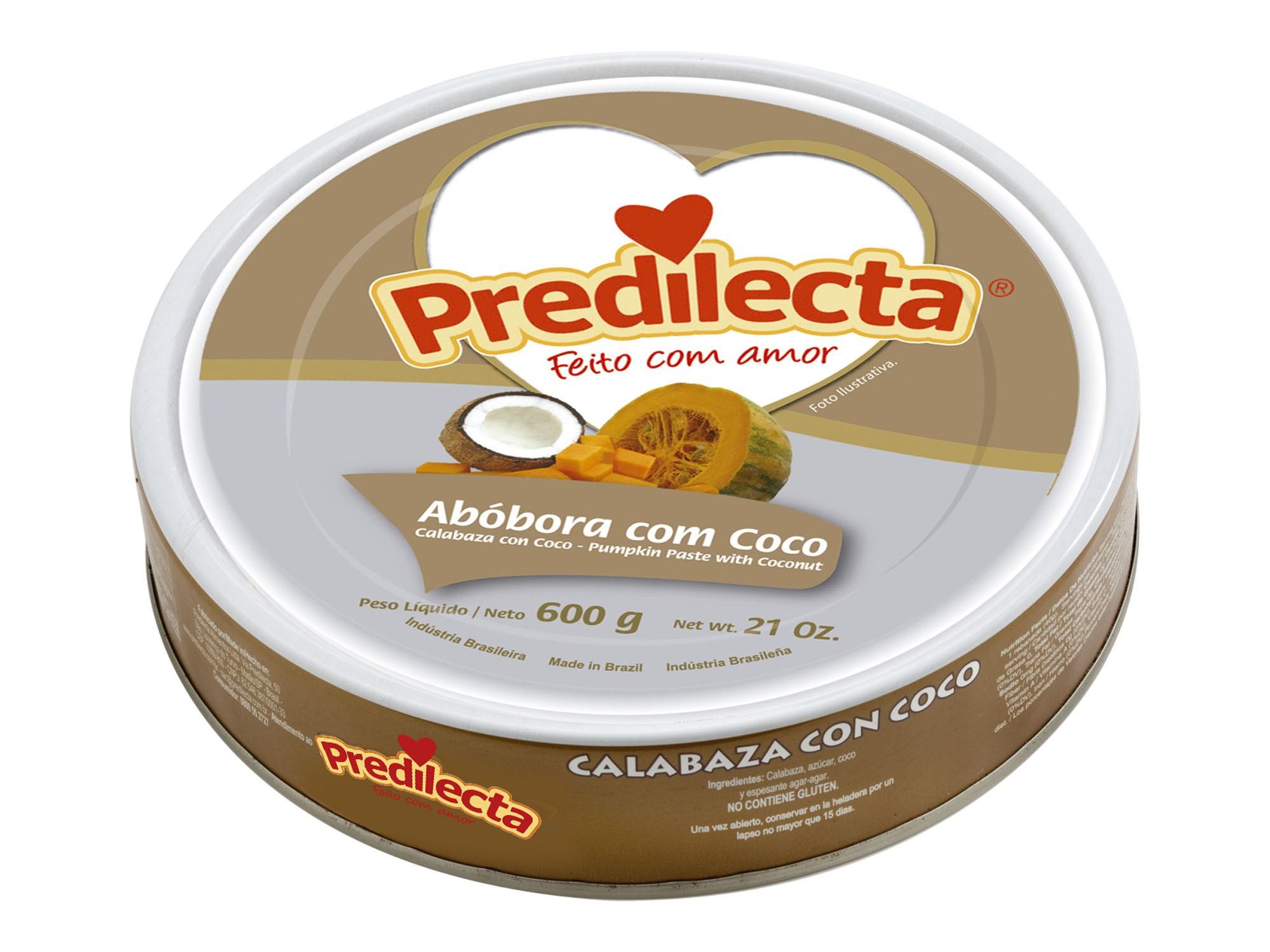 Abobora com coco Predilecta 600g Lata