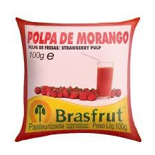 Polpa de fruta morango Brasfrut
