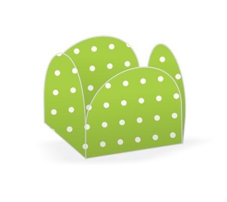 Forminha 4 Pétalas Poá Verde Limão E Branco 50 Un- Nc Toys