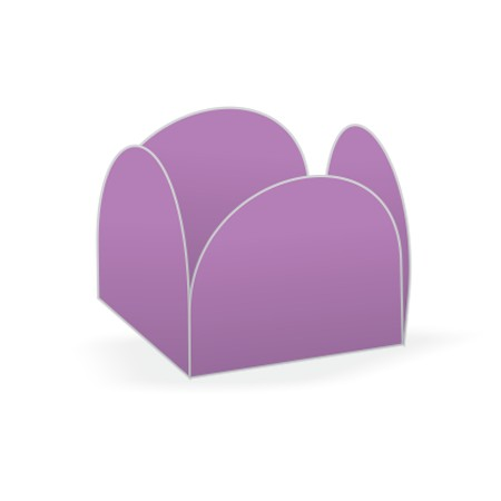 Forminha para Doces Caixeta Lisa Kid-Art c/ 50 unidades lilas
