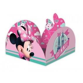 Forminha para Doces Caixeta Lisa Kid-Art c/ 50 unidades Minnie rosa