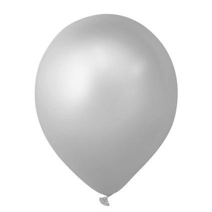 Balão 07 Imperial São Roque Prata 50 Unid