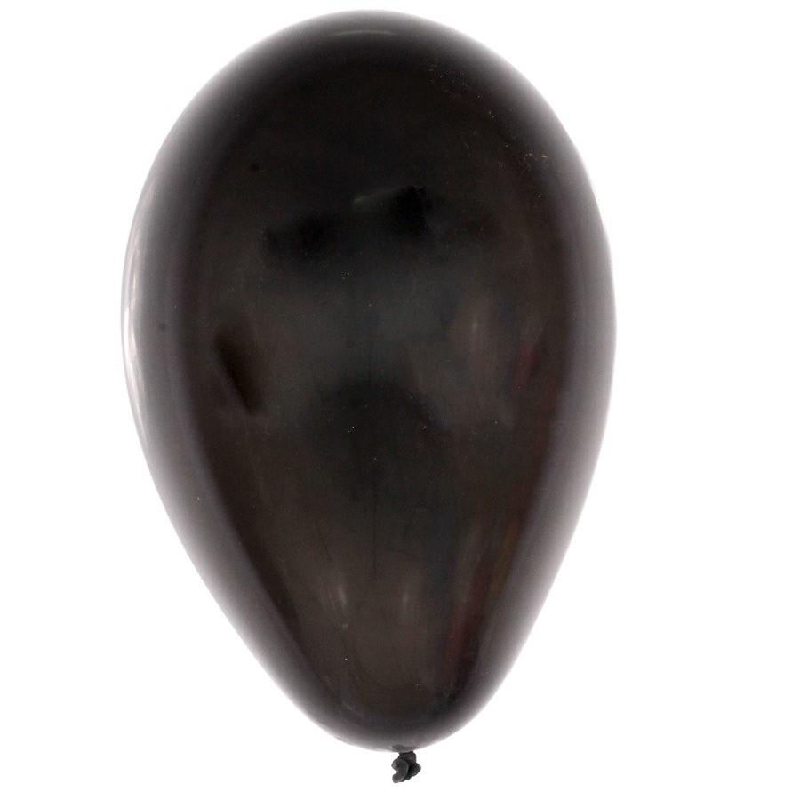 Balão 07 Imperial São Roque Para Festas Preto Ébano 50 Unid.