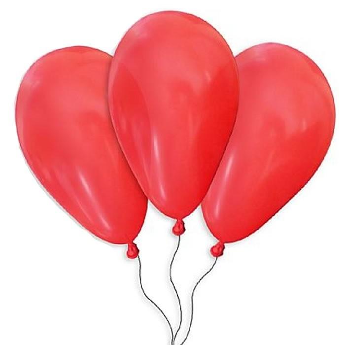 balão 07 imperial são roque para festas vermelho 50 unid.