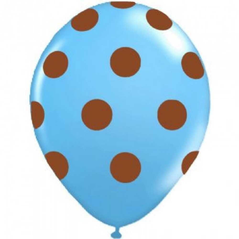 Balão Pic Pic Fantasia n10 BOLINHA Azul/MARRAN - 25 unidades