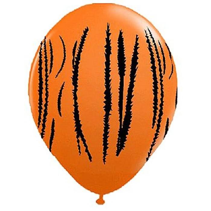 "Balão Balloontech 10"" Safari África Tigre para Festas Pacote com 25 unidades"