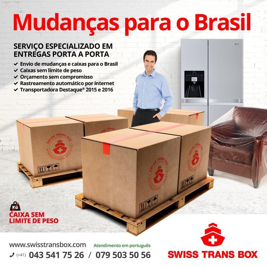 SWISS TRANS BOX ENVIO PARA O BRASIL SEM LIMITE DE PESO