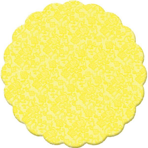 Fundo Doces Rendado Amarelo nº 7 - 100 unidades