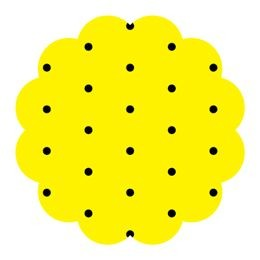 Fundo Poa com Preto Amarelo N9 100UND