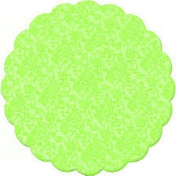 Fundo rendado 09cm verde c/100 unids