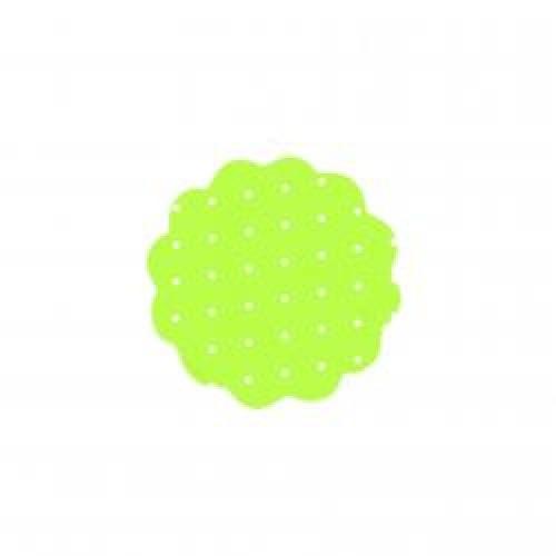 Fundo rendado N9 poa verde e bolinha branco com 100 unidades
