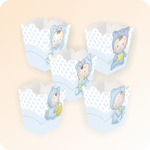 Cachepot Baby Azul - 10 unidades