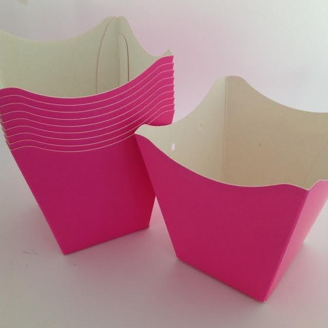 Cachepô de Papel Rosa Pink 10UND
