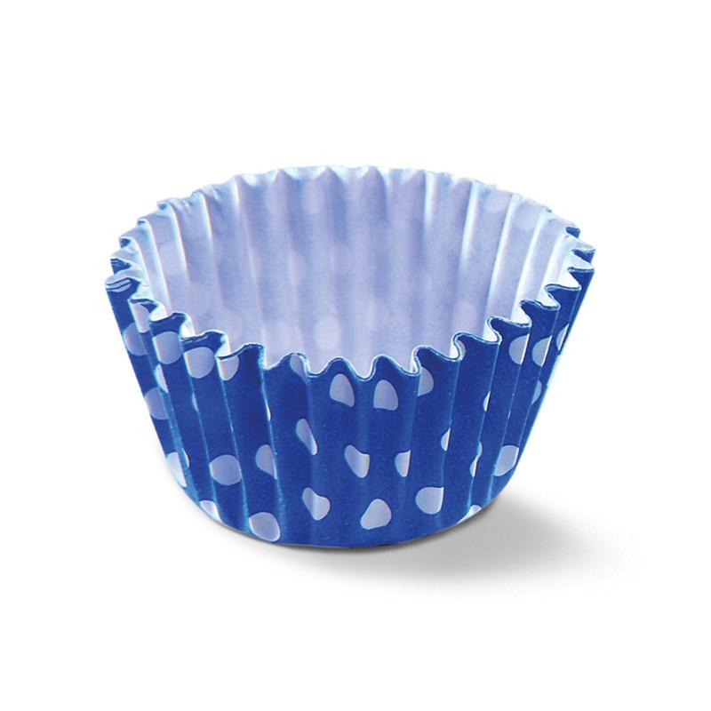 Forminha de Papel Poá Azul N°5 100 UND
