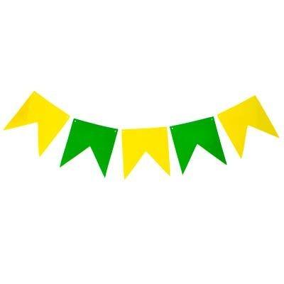 Bandeirinhas Verde e Amarelo em E.V.A - BRASIL  20 unidades