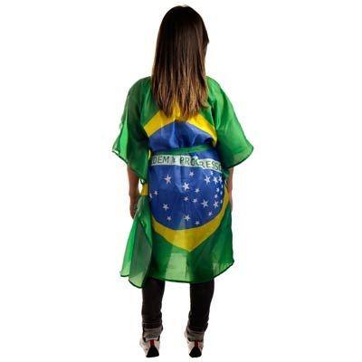 Blusa Kafta Bandeira do Brasil em Tecido